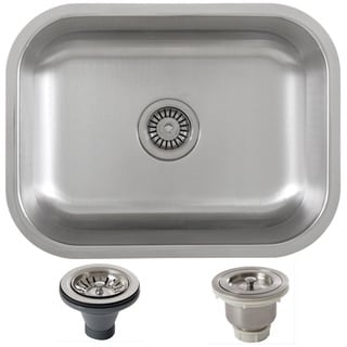Ticor 23-inch Stainless Steel 16 Gauge Undermount Single Bowl Kitchen Sink