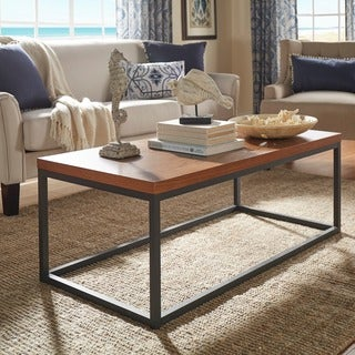 TRIBECCA HOME Dixon Rustic Oak Industrial Occasional Table