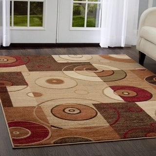 Downtown Multicolored Geometric Area Rug ( 7'10 x 10'6)