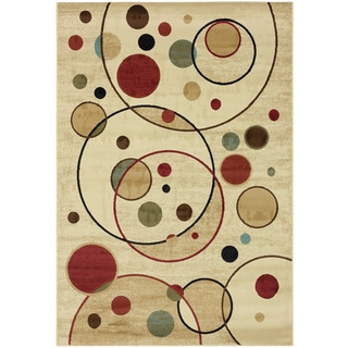 Contemporary Balloons Ivory Area Rug (7'10 x 9'10)