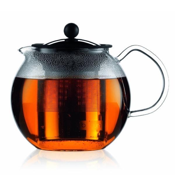Bodum Assam 34-ounce Glass Teapot with Stainless-Steel Filter 14740582