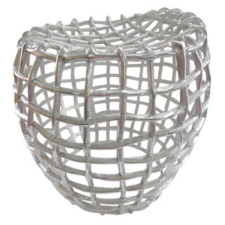 Textured Silver Metal Stool