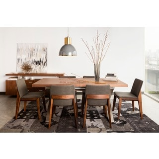 Aurelle Home Bella Walnut Wood Dining Chair (Set of 2)