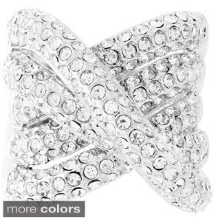 Brass Crystal Interlocking Ring
