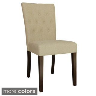 Emma Tufted Linen Dining Chair (Set of 2)