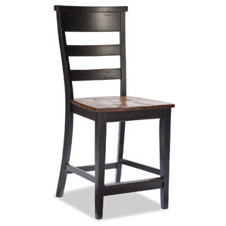 Winchester Black/ Honey Nut Solid Knotty Rubberwood Bar Stool (set of 2)