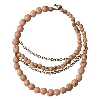 Faire Collection Soft Pink Brooklyn Necklace (Ecuador)