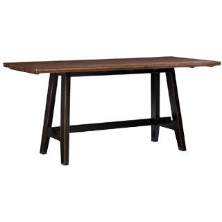 Winchester Black/ Honey Nut Solid Knotty Rubberwood Gathering Table