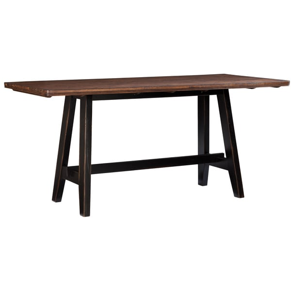 Winchester Black/ Honey Nut Solid Knotty Rubberwood Gathering Table ...