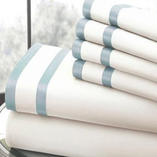 Modern Threads 1000 Thread Count 6-piece Bed Sheet Set with Double Satin Band