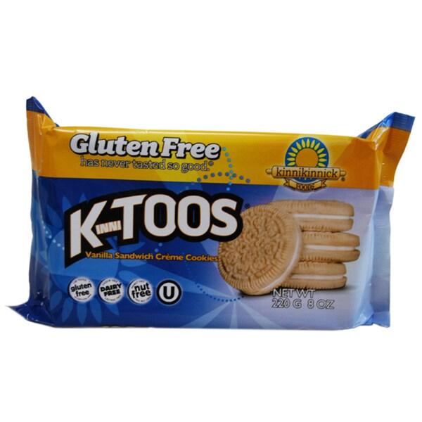 Kinnikinnick KinniToos Gluten Free Vanilla Sandwich Crme Cookies (2-pack)