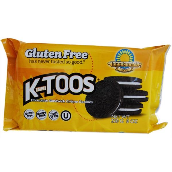 Kinnikinnick KinniToos Gluten Free Chocolate Sandwich Cookies (2-pack)