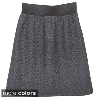 Baby'O Girl's Diamond Pattern Quilted Knit Skirt