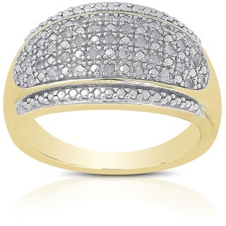 Finesque Sterling Silver 1/5ct TDW Diamond Ring (I-J, I2-I3)