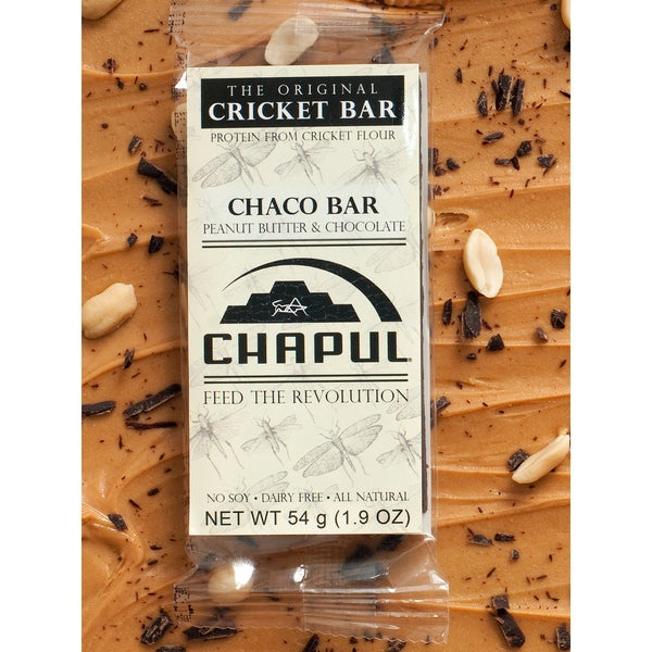 Chapul Chaco Peanut Butter Chocolate Cricket Energy Bars (Pack of 6)