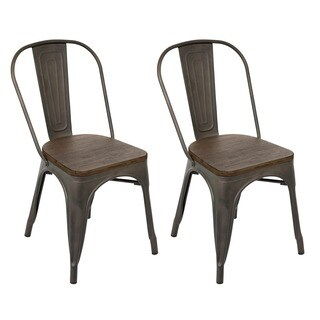 Industrial Antiqued Dining Chair