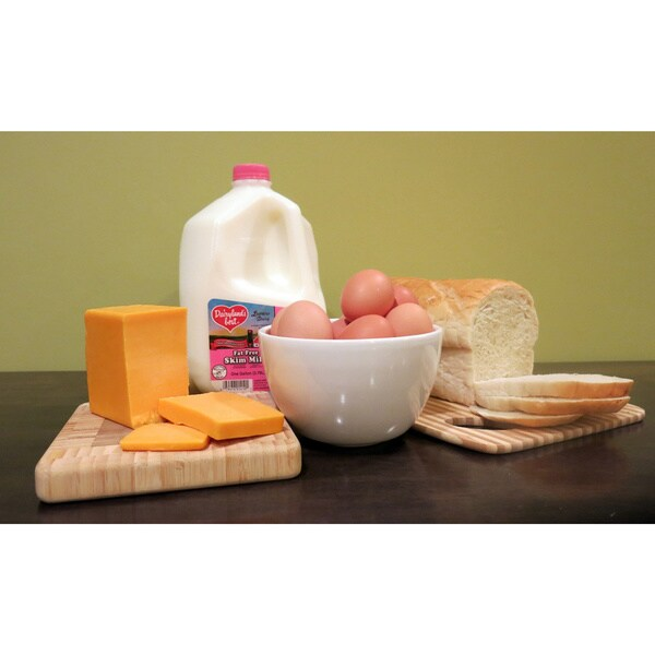 Farmer's Best Breakfast Basket with 1-percent Milk and Cheddar Cheese (Local Delivery)
