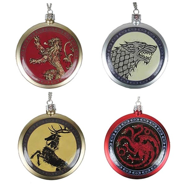 Game of Thrones Stark/ Lannister/ Targaryen/ Baratheon Flat Disk Ornament Set