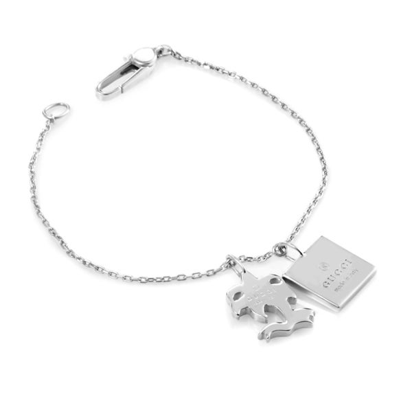 Gucci Sterling Silver Charm Bracelet