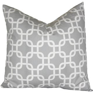 Grey and White Chain Link Designed Pillow Cover