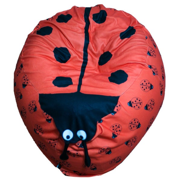 Fun Bun Bean Bags Kid's Lady Bug Bean Bag Chair