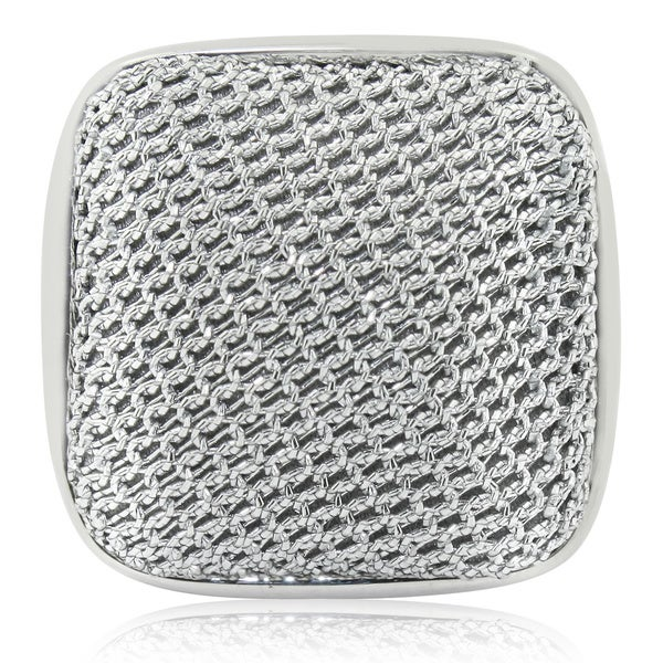 Sterling Silver Square Mesh Ring