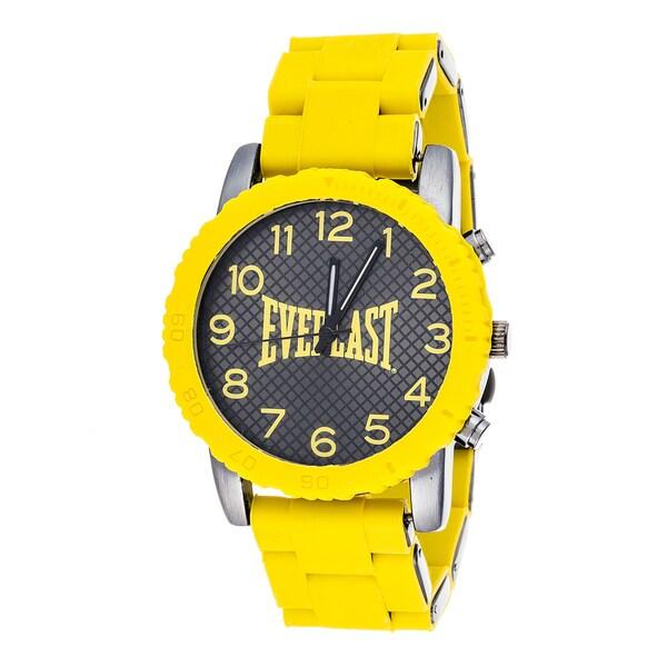Everlast Sport Men's Dialog Yellow Rubber Strap Watch