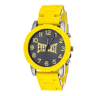 Everlast Sport Men's Dialog Yellow Rubber Strap Watch