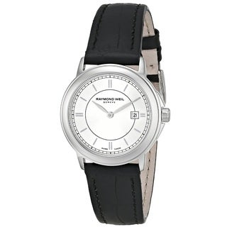 "Raymond Weil Women's 59661-STC-65001 ""Maestro"" Swiss Quartz Black Leather Watch"