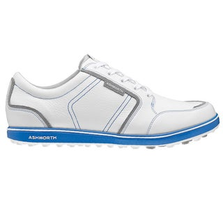 Ashworth Men's Cardiff ADC Spikeless White/Neutral Grey/Air Force Blue Golf Shoes
