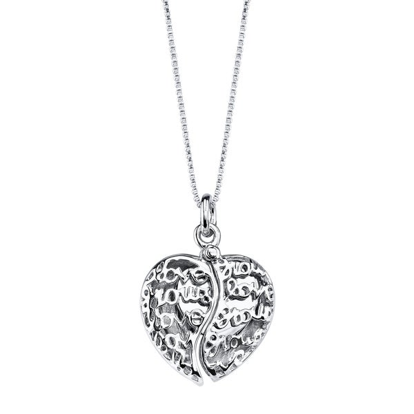 Love Grows Sterling Silver Crystal 'Love Grows' Pendant