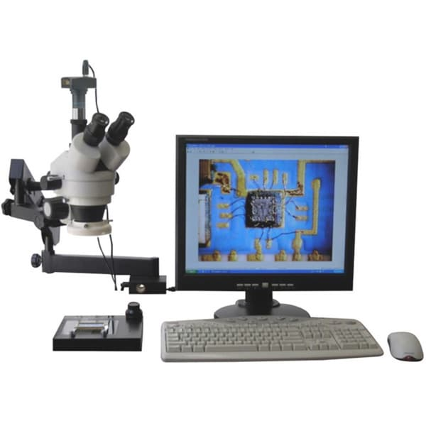 AmScope 3.5x-90x Articulating Stereo Microscope with 80-LED Light and 3MP USB Digital Camera