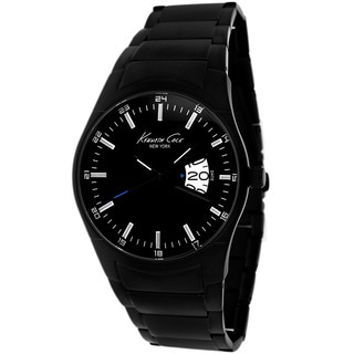 Kenneth Cole Men's KC9290 New York Round Black Ion-Plated Bracelet Watch