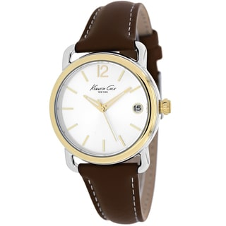Kenneth Cole Women's KC2815 Classic Round Brown Strap Watch