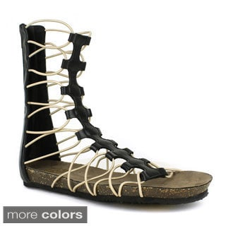 Fahrenheit APRIL-01 Gladiator T-strap Flat Sandal
