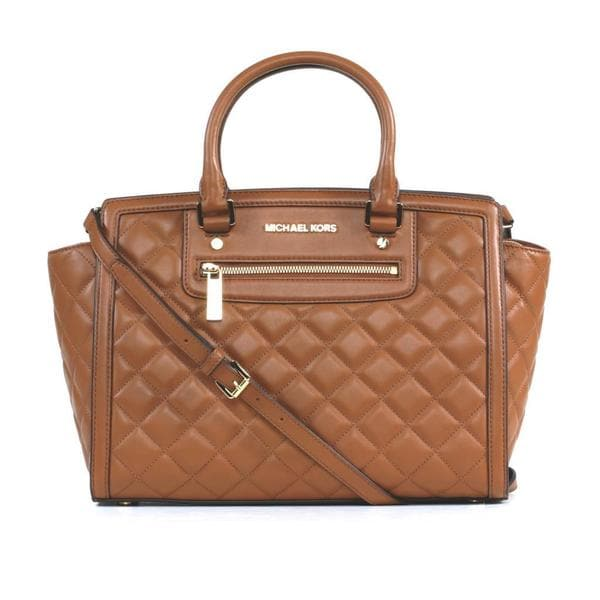 MICHAEL Michael Kors Selma Zip Quilt Large Leather Satchel