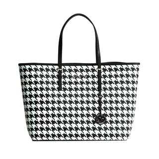MICHAEL Michael Kors Jet Set Houndstooth Travel Tote
