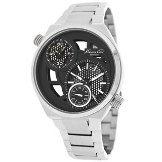 Kenneth Cole Men's KC3991 Classic Round Silvertone Bracelet Watch