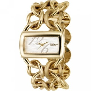 DKNY Women's NY4366 'Textured' Gold Tone Stainless Steel Bangle Watch