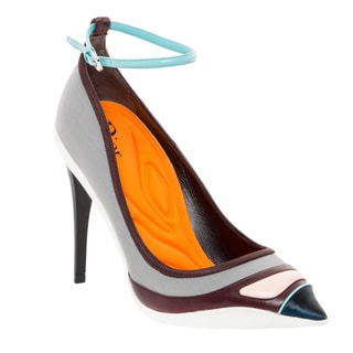 Christian Dior Asymmetrical Pointed Pump with Ankle Strap