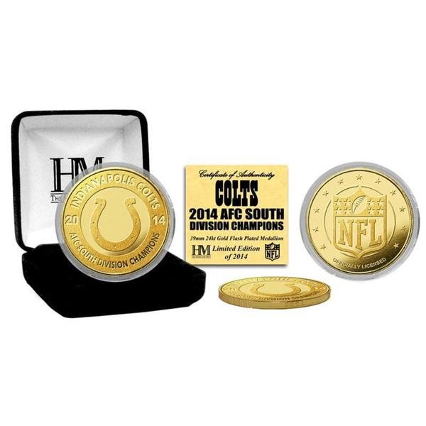 Indianapolis Colts 2014 AFC South Division Champions Gold Mint Coin