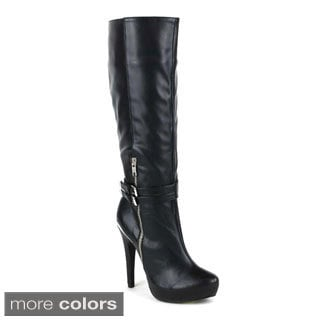 Fahrenheit Women's 'Bullock-01' Knee-high Stiletto Boots
