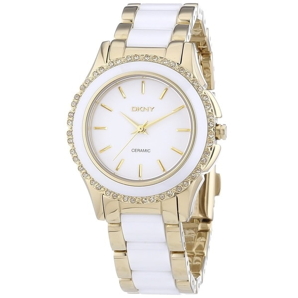 DKNY Women's NY8829 'Chambers' Stainless Steel and Ceramic Watch