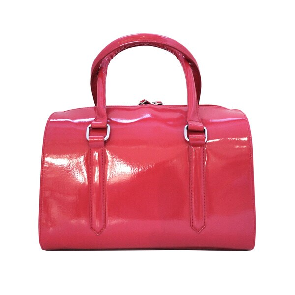 Olivia Miller Fuchsia Raw Edge Doctor Satchel