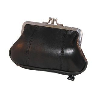 Continental Leather Snap Kiss Lock Coin Purse