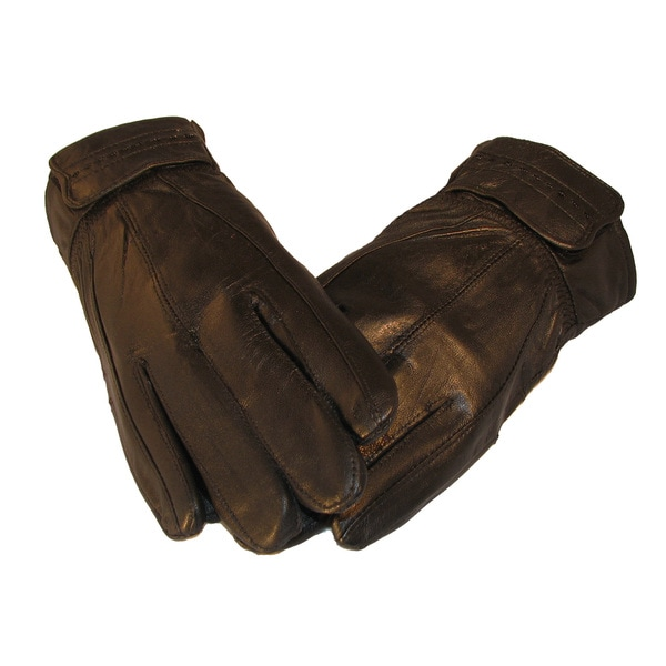 Men's Black Lambskin Leather Gloves with Thinsulate
