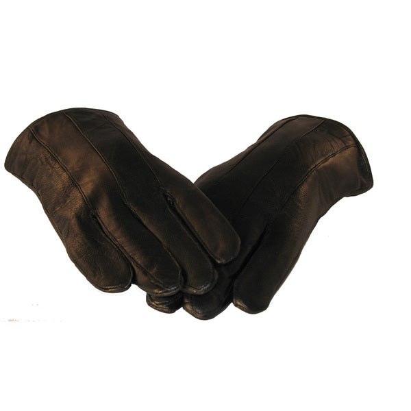 Men's Lambskin Black Leather Gloves