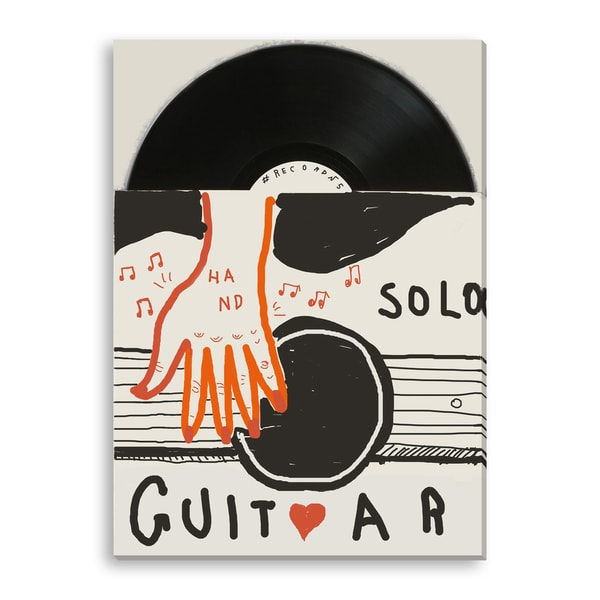 Moypapaboris's 'Guitar Solo' Gallery Wrapped Canvas
