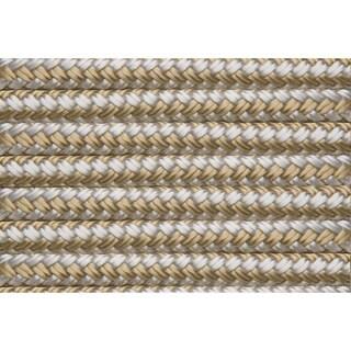 "Shoreline Marine Double Braided Nylon Dock Line, Gold/ White (.375"" x 20')"