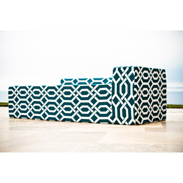 Softblock Fork Teal Chaise